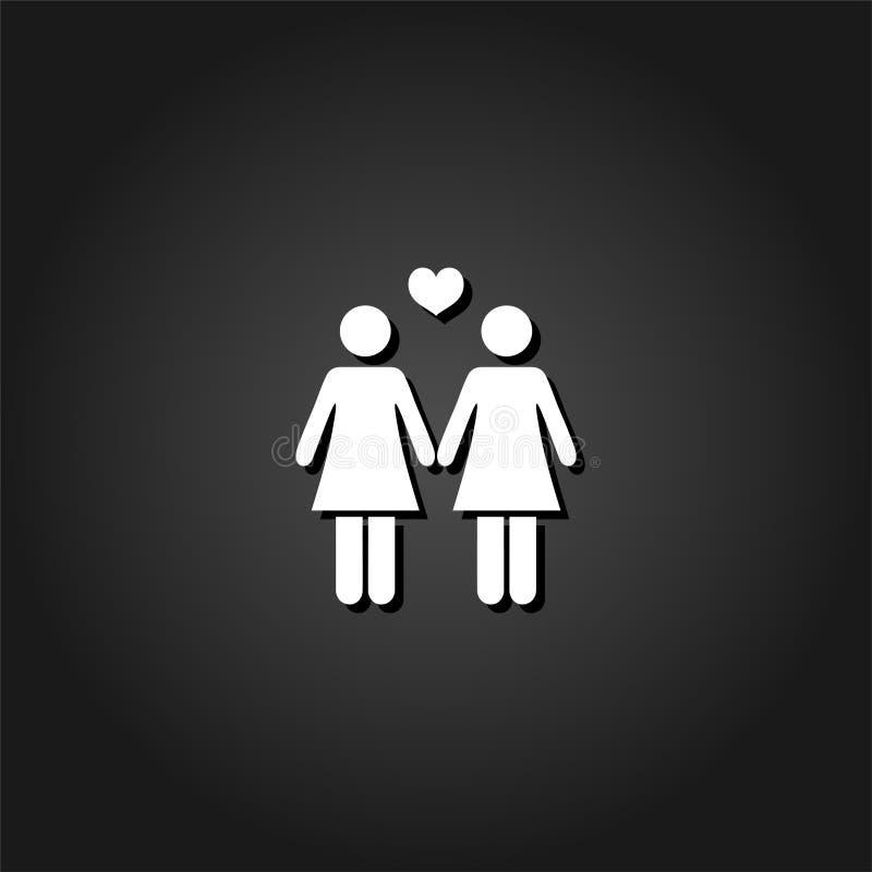 Lesbische Ikone flach lizenzfreie abbildung
