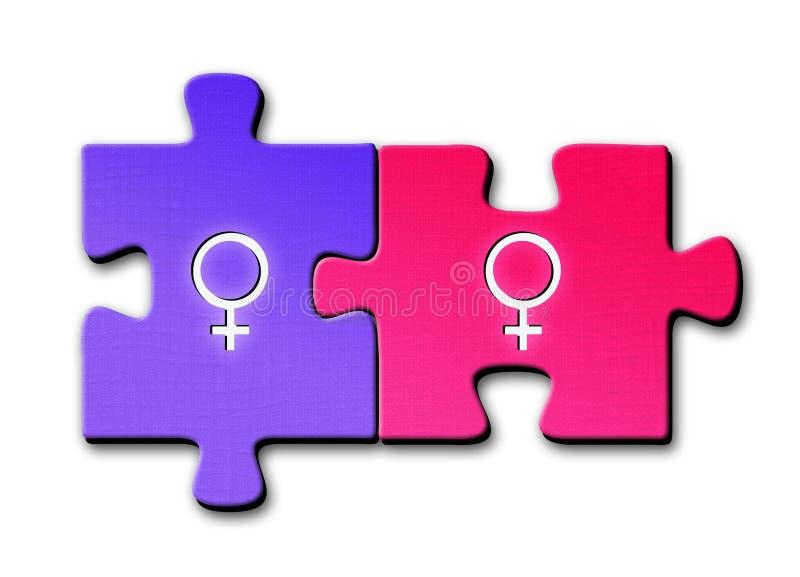 Lesbische Symbole lizenzfreies stockbild