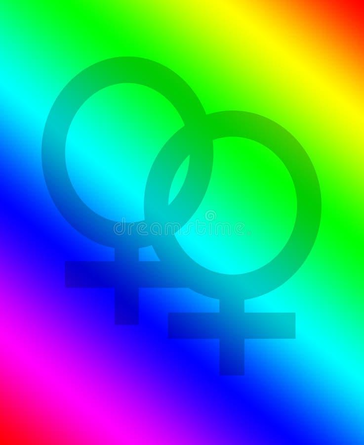 Lesbischer Symbol-Hintergrund stockfotografie