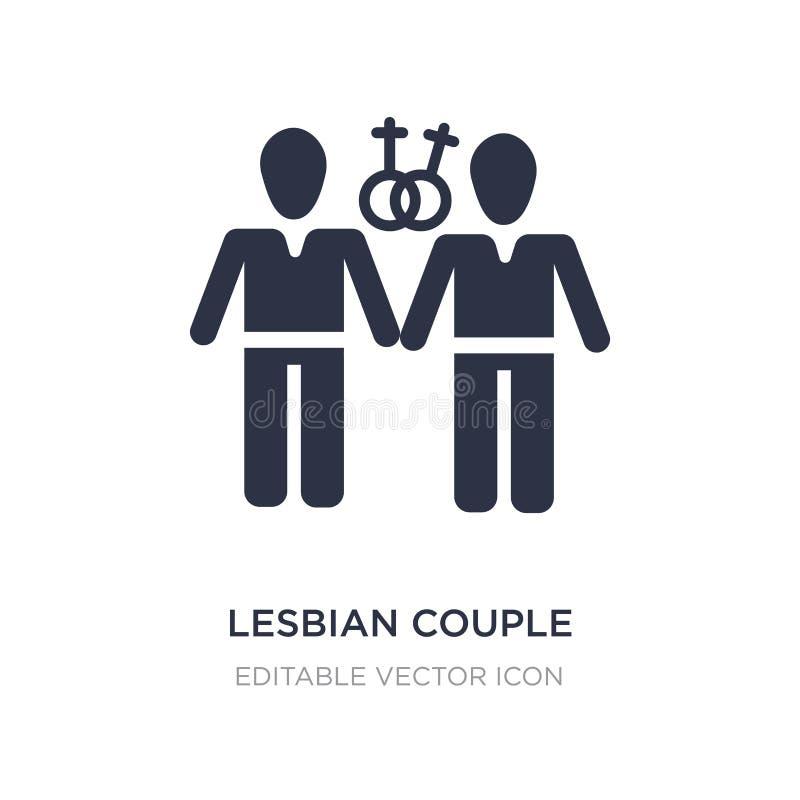 lesbisk parsymbol på vit bakgrund Enkel beståndsdelillustration från folkbegrepp royaltyfri illustrationer