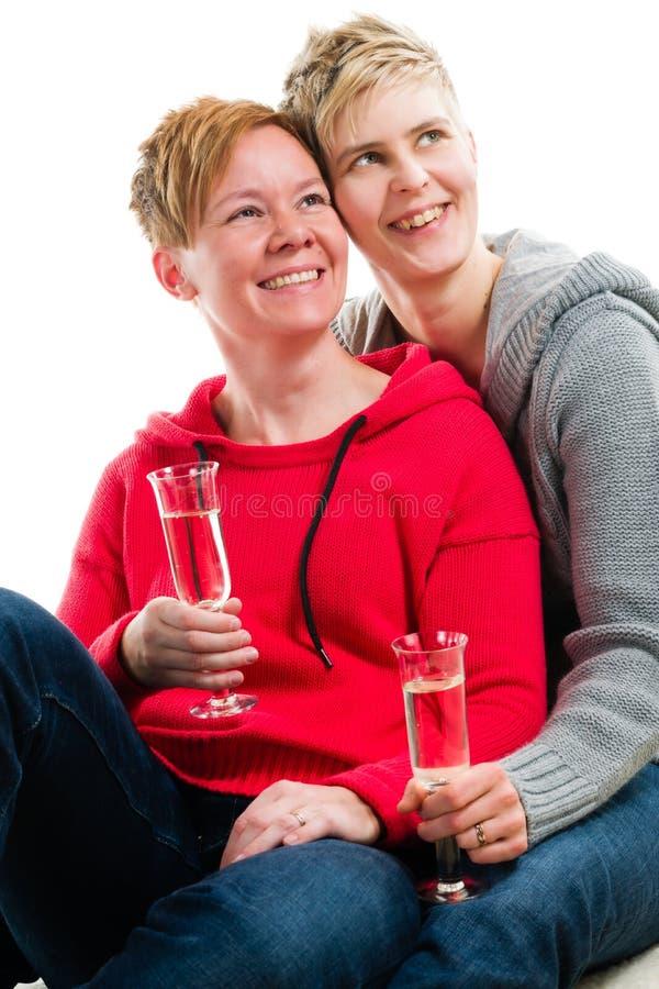 Lesbiska par royaltyfri fotografi