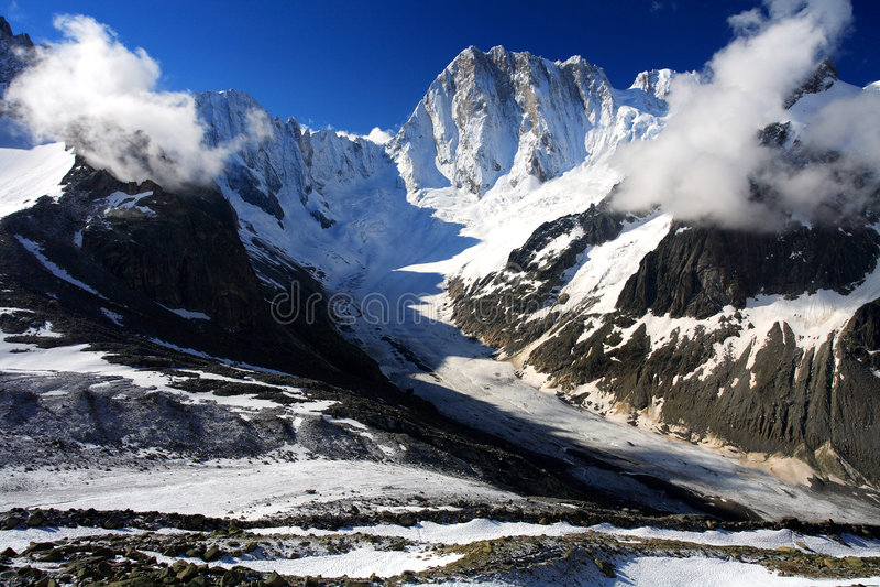 Leschaux Glacier royalty free stock photo