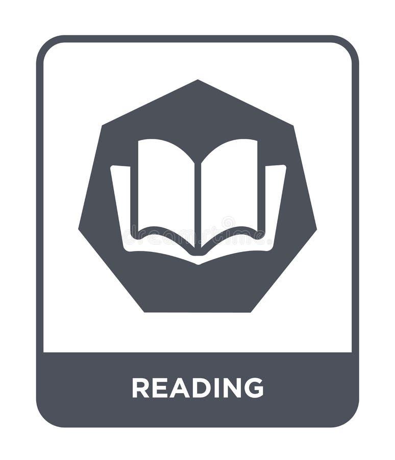 Leseikone in der modischen Entwurfsart Leseikone lokalisiert auf weißem Hintergrund Ablesen einfaches und modernes flaches Symbol vektor abbildung