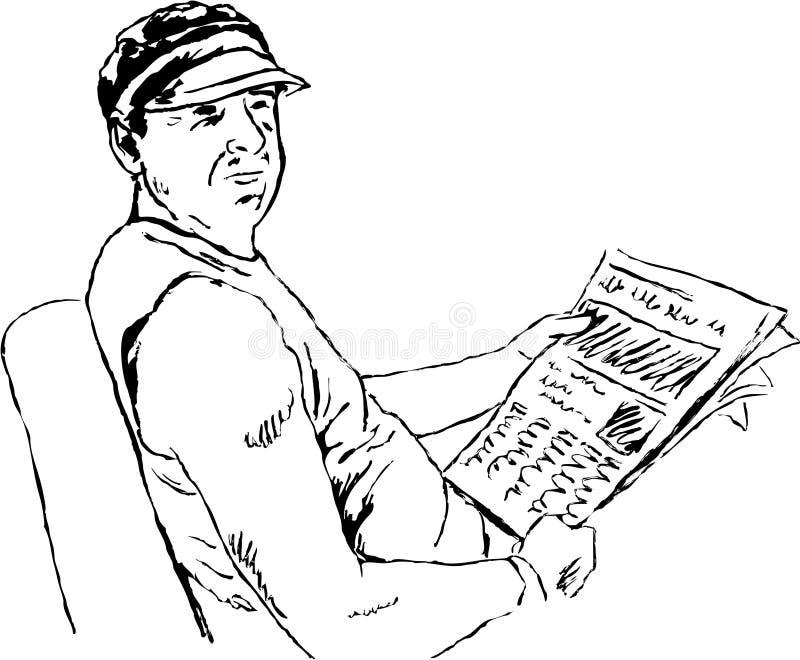 Lesen der Nachrichten lizenzfreie abbildung