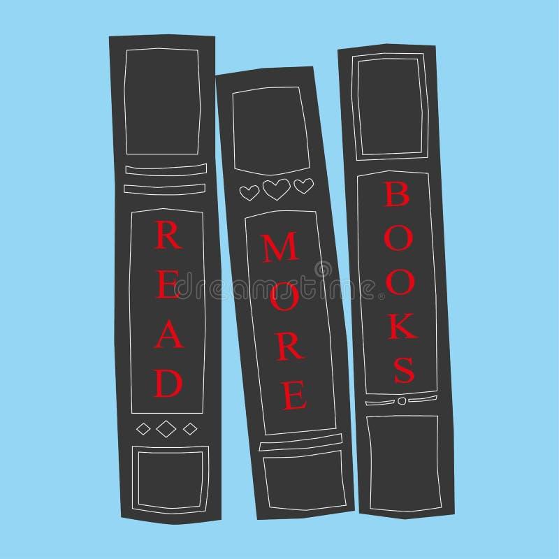 Lesen Sie mehr Bücher lizenzfreie abbildung