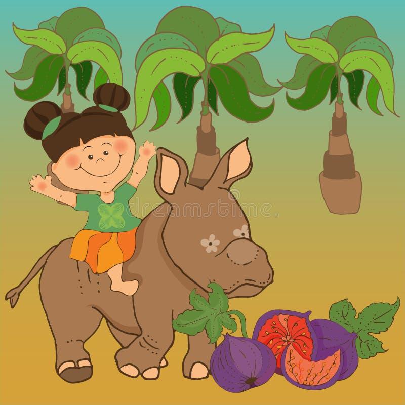 Leser f?r Kindergarten, Bilder basiert auf den M?rchen ?ber Barmalee vektor abbildung
