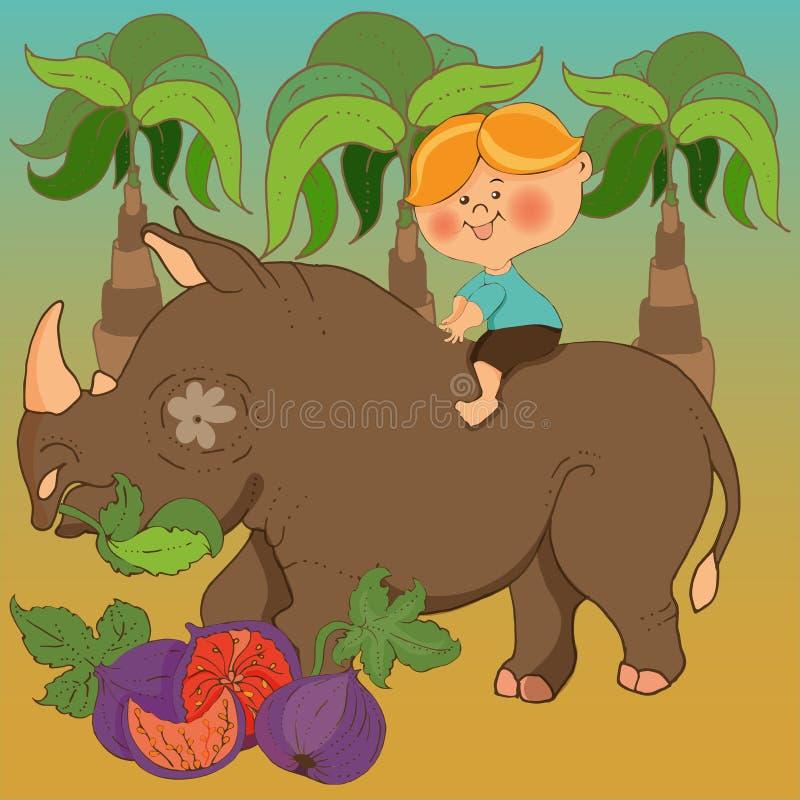 Leser f?r Kindergarten Illustrationen f?r Jugendb?cher basiert auf der Geschichte von Barmaley stock abbildung