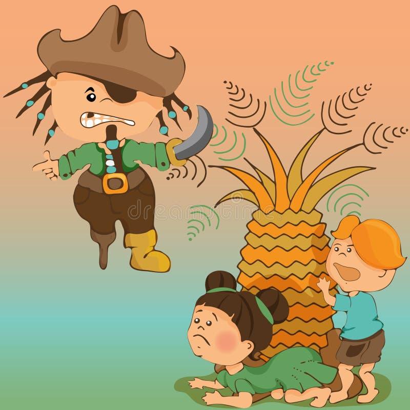 Leser f?r Kindergarten Illustrationen f?r Jugendb?cher basiert auf der Geschichte von Barmaley vektor abbildung