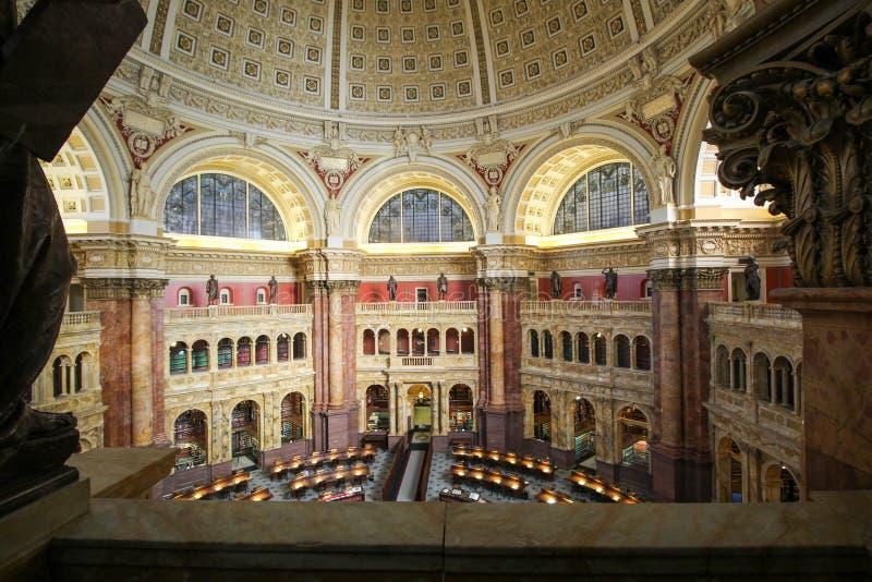 Lesesaal-Kongressbibliothek lizenzfreies stockbild