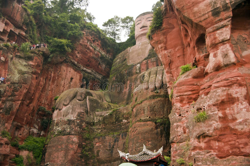 Gigante Buddha de Leshan fotos de stock royalty free