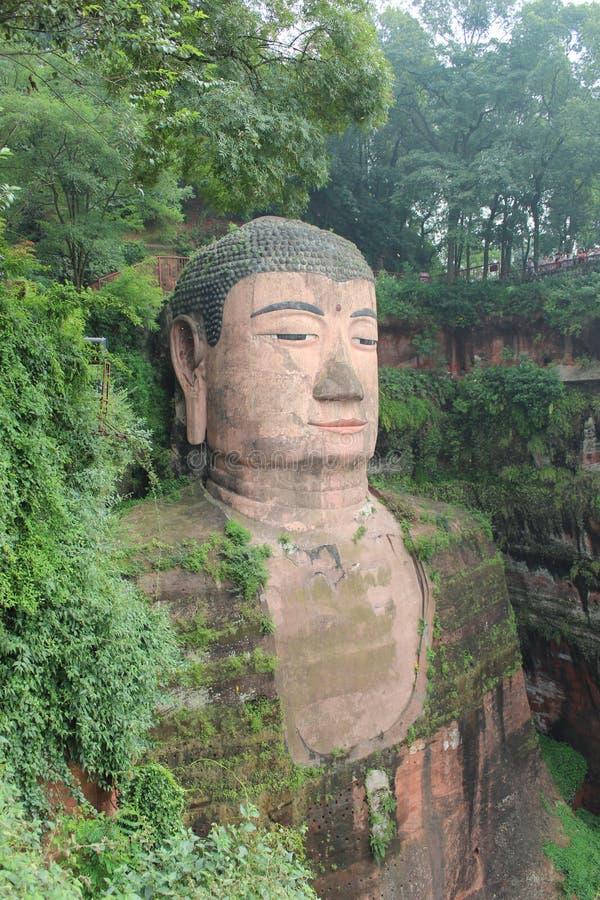 Leshan Buddhastaty arkivfoton
