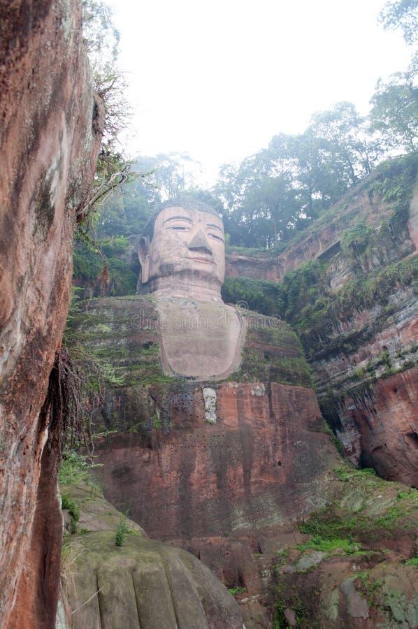Download Leshan Giant Buddha stock image. Image of brow, head - 21499009