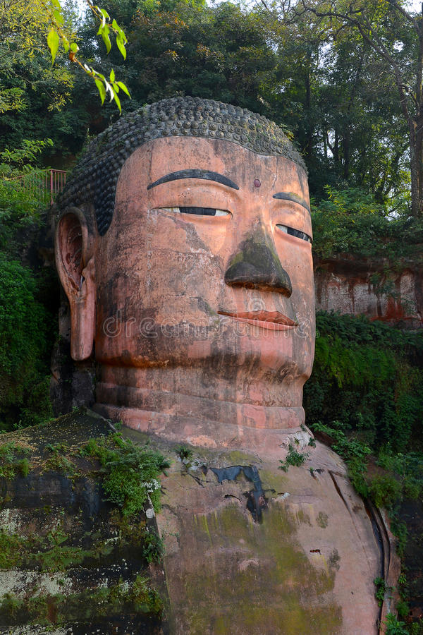 Leshan Giant Buddha. Carved in the Tang Dynasty Kaiyuan reign (713 years), completed in Zhenyuan nineteen years (803 years), which lasted for about ninety years royalty free stock photo