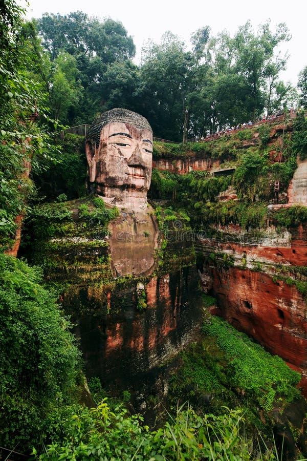 Leshan Giant Buddha in China. Leshan Giant Buddha in Sichuan Province, China. Largest Buddha in the world stock photos