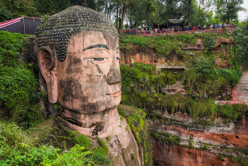 Leshan gigant Buddha w Sichuan Chiny zdjęcie royalty free