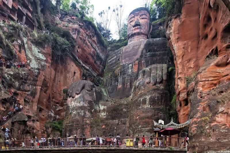 Leshan Reuzeboedha in Leshan, de provincie van Sichuan in China royalty-vrije stock fotografie