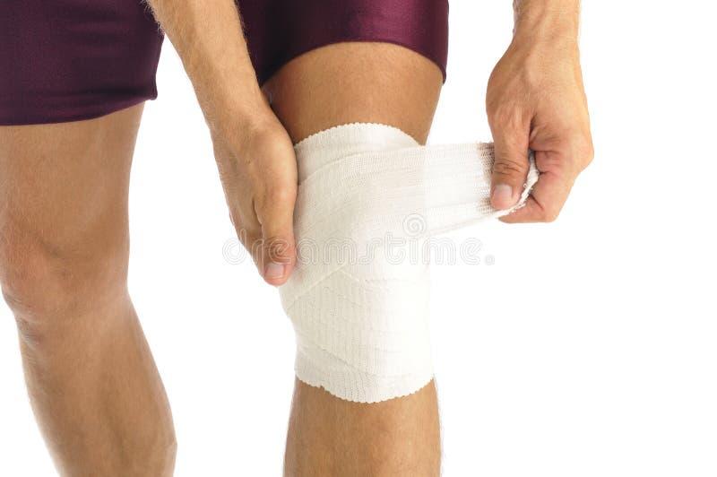 Lesión de rodilla imagen de archivo libre de regalías
