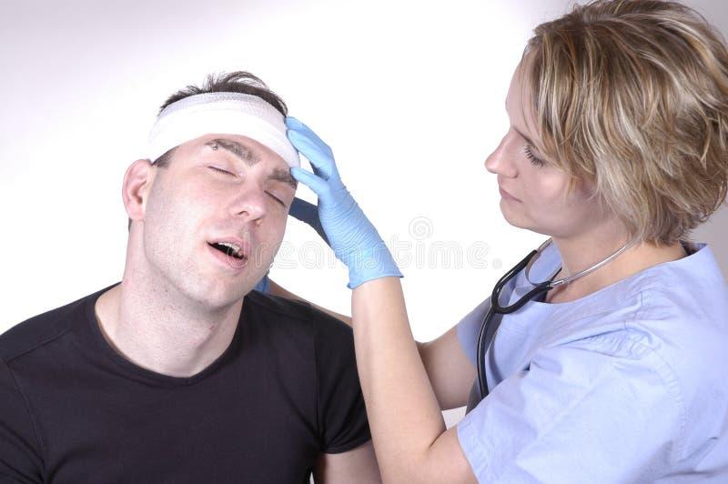 Lesione alla testa fotografia stock