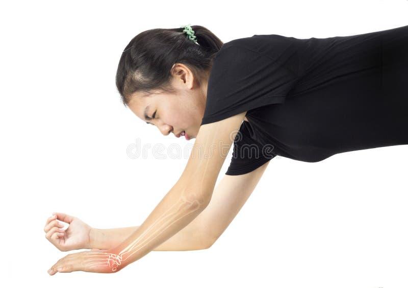 Lesione delle ossa di polso immagine stock