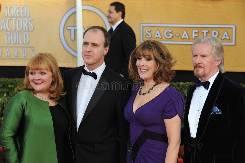 Lesley Nicol et Kevin Doyle et Phyllis Logan et David Robb image libre de droits
