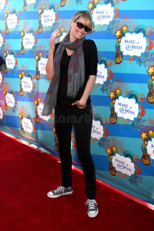 Leslie Bibb. Arrives at the Make-A-Wish Foundation Day Event Hosted by Kevin & Steffiana James Pacific Park on the Santa Monica Pier Los Angeles, CA March 14 royalty free stock image
