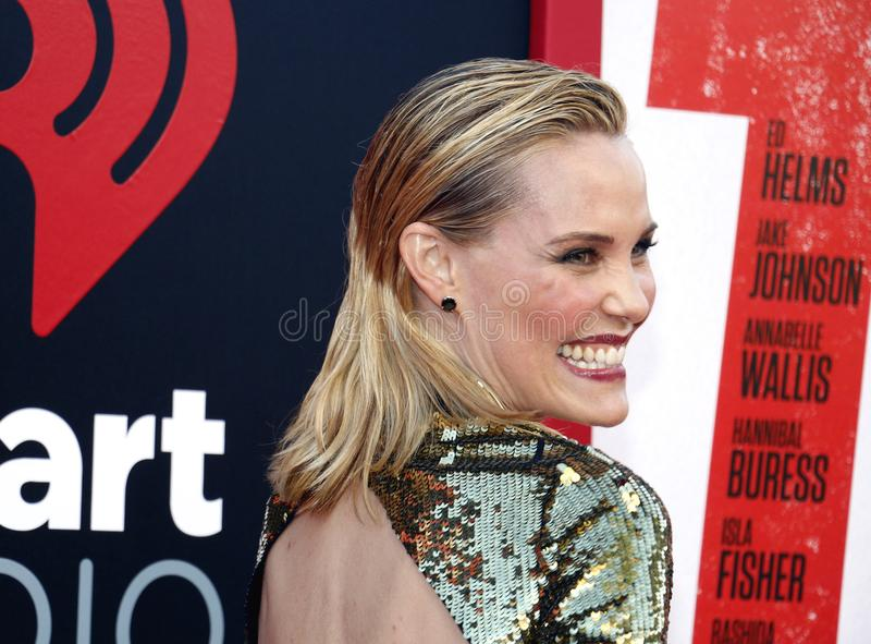 Leslie Bibb. At the Los Angeles premiere of `Tag` held at the Regency Village Theatre in Westwood, USA on June 7, 2018 stock photo