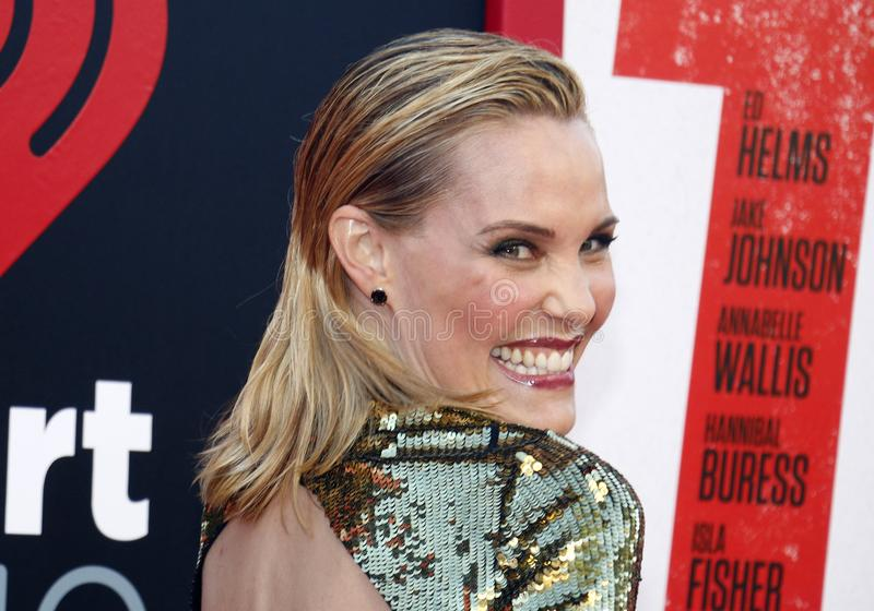 Leslie Bibb. At the Los Angeles premiere of `Tag` held at the Regency Village Theatre in Westwood, USA on June 7, 2018 royalty free stock image