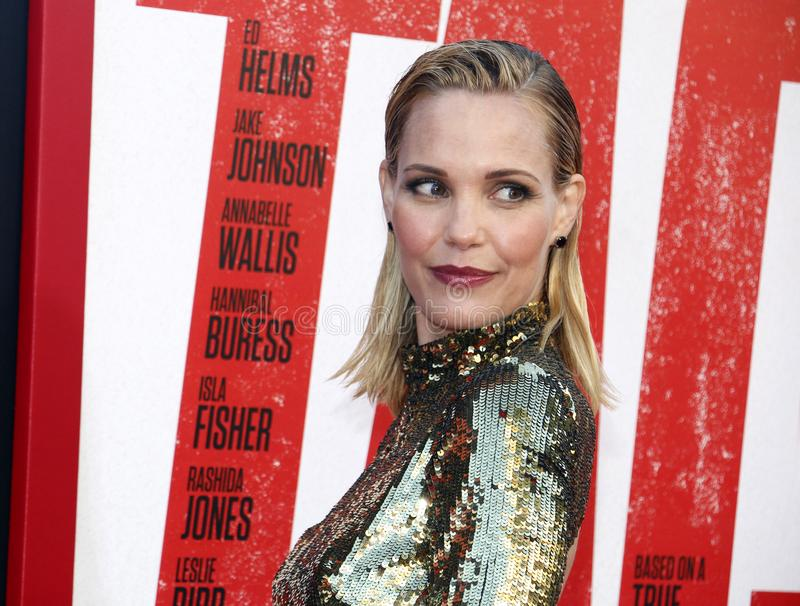 Leslie Bibb. At the Los Angeles premiere of `Tag` held at the Regency Village Theatre in Westwood, USA on June 7, 2018 royalty free stock photo