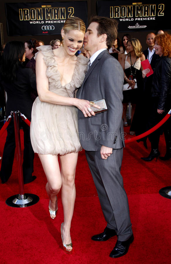 Leslie Bibb and Sam Rockwell. At the Los Angeles premiere of 'Iron Man 2' held at the El Capitan Theatre in Hollywood on April 26, 2010 stock photography