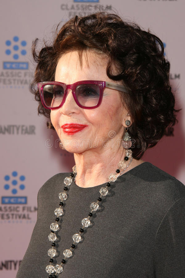Leslie Caron. LOS ANGELES - APR 27: Leslie Caron arriving at the TCM Classic Film Festival Opening Night Gala And World Premiere Of An American In Paris at royalty free stock photos