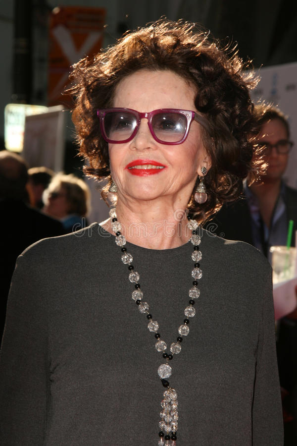Leslie Caron. LOS ANGELES - APR 27: Leslie Caron arriving at the TCM Classic Film Festival Opening Night Gala And World Premiere Of An American In Paris at royalty free stock images