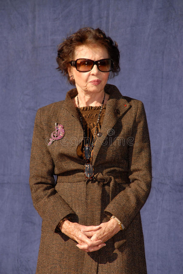 Leslie Caron. At the star ceremoney for  into the Hollywood Walk of Fame, Hollywood, CA. 12-08-09 stock image