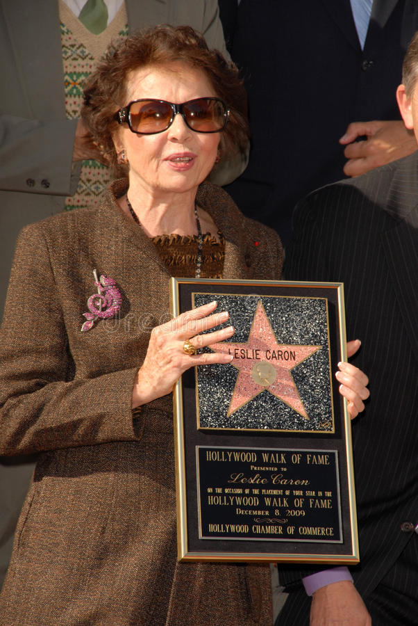 Leslie Caron. At the star ceremoney for  into the Hollywood Walk of Fame, Hollywood, CA. 12-08-09 stock photo
