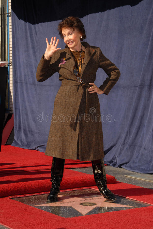 Leslie Caron. At the star ceremoney for  into the Hollywood Walk of Fame, Hollywood, CA. 12-08-09 stock photos