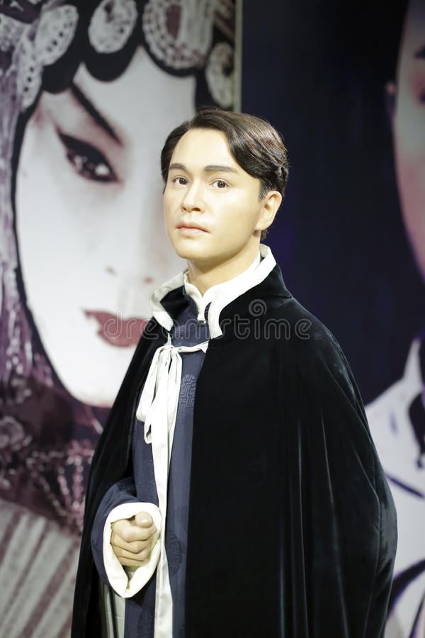 Leslie cheung. The famous hong kong movie star singer leslie cheung wax figure in hongkong. he died of homosexuality stock image
