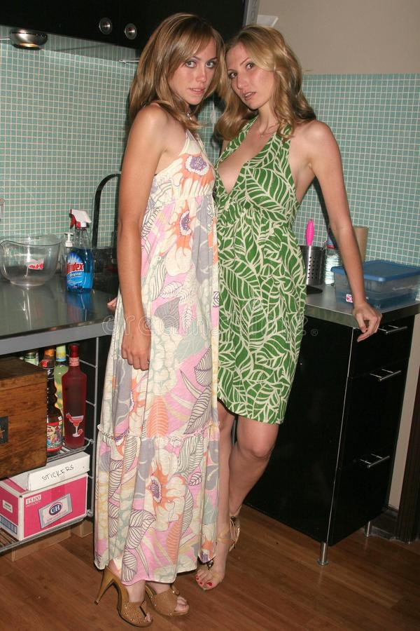 Leslie Durso. And a model at the Carole Bruns Couture Launch Party. Chroma Studio, Hollywood, CA. 04-20-08 stock images