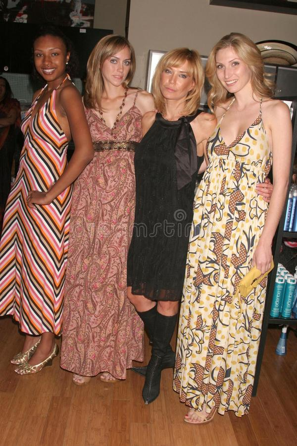 Leslie Durso. And models at the Carole Bruns Couture Launch Party. Chroma Studio, Hollywood, CA. 04-20-08 royalty free stock images