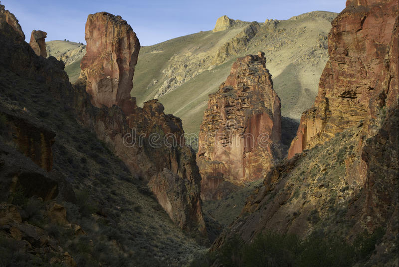 Leslie Gulch. In Eastern Oregon royalty free stock photo