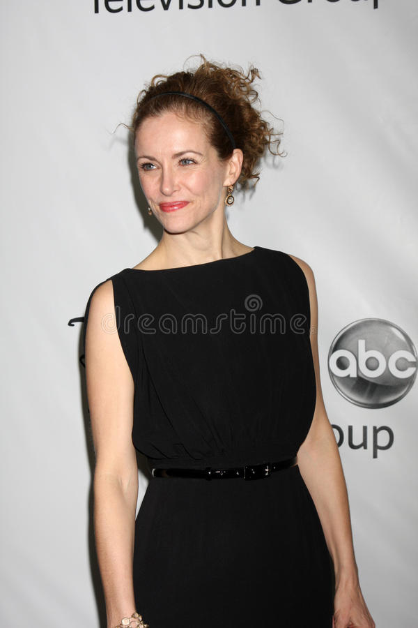 Leslie Hope. LOS ANGELES - JAN 10: Leslie Hope arrives at the ABC TCA Party Winter 2012 at Langham Huntington Hotel on January 10, 2012 in Pasadena, CA stock images