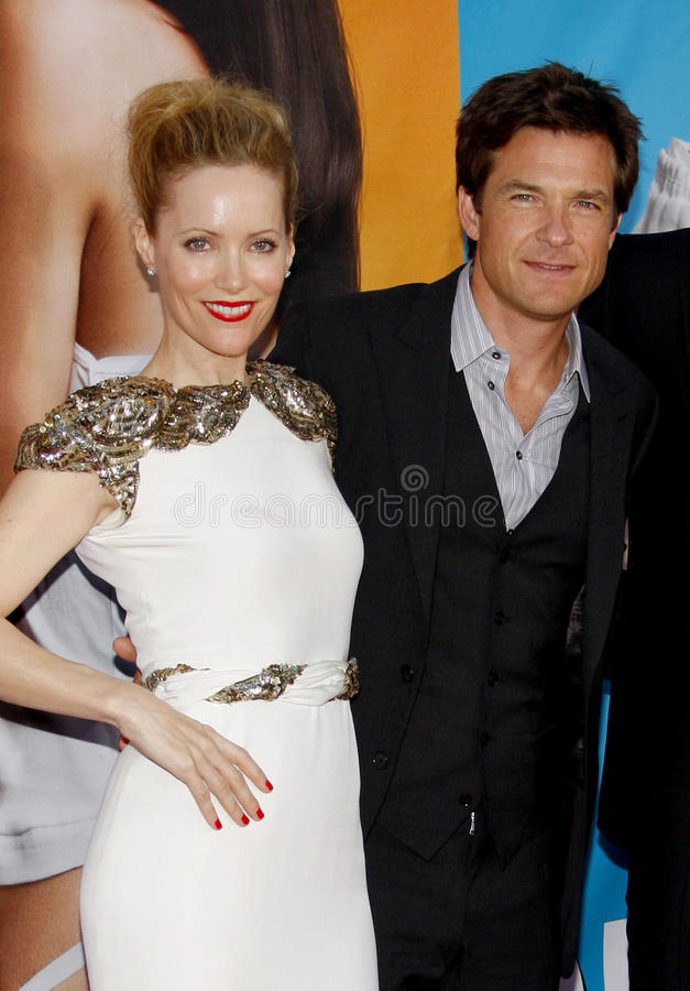 Leslie Mann and Jason Bateman. At the Los Angeles premiere of 'The Change-Up' held at the Regency Village Theatre in Westwood on August 1, 2011 stock image