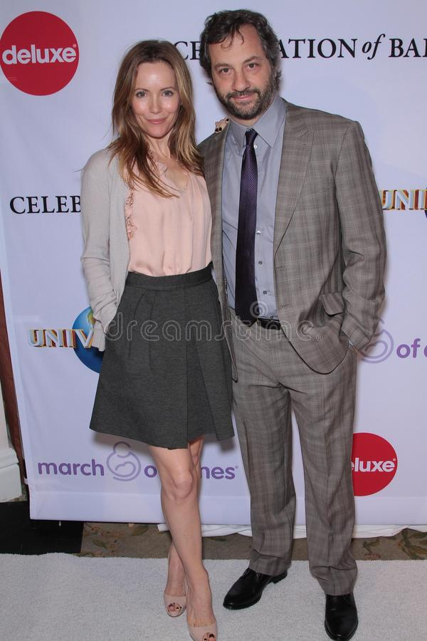 Leslie Mann, Judd Apatow royalty free stock image