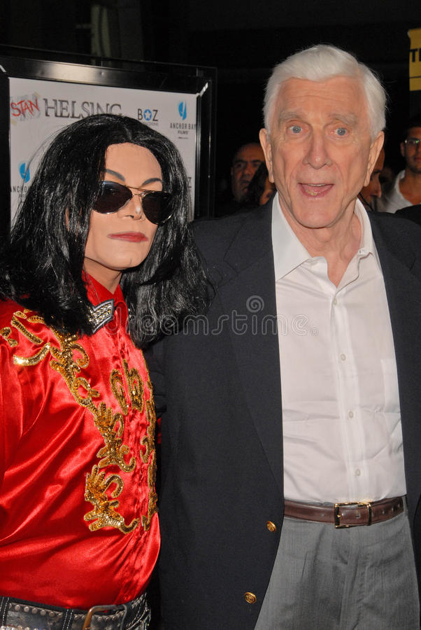 Leslie Nielsen. At the Los Angeles Premiere of Stan Helsing, Arclight Theater, Hollywood, CA. 10-20-09 royalty free stock photos