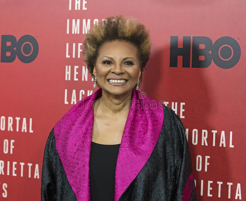 Leslie Uggams. Actress Leslie Uggams arrives for the New York premiere of `The Immortal Life of Henrietta Lacks,` an HBO premium cable dramatic tv film. The royalty free stock photo