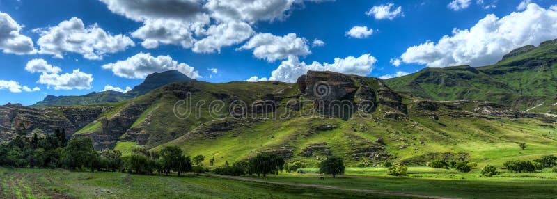 Lesothiskt landskap royaltyfri foto