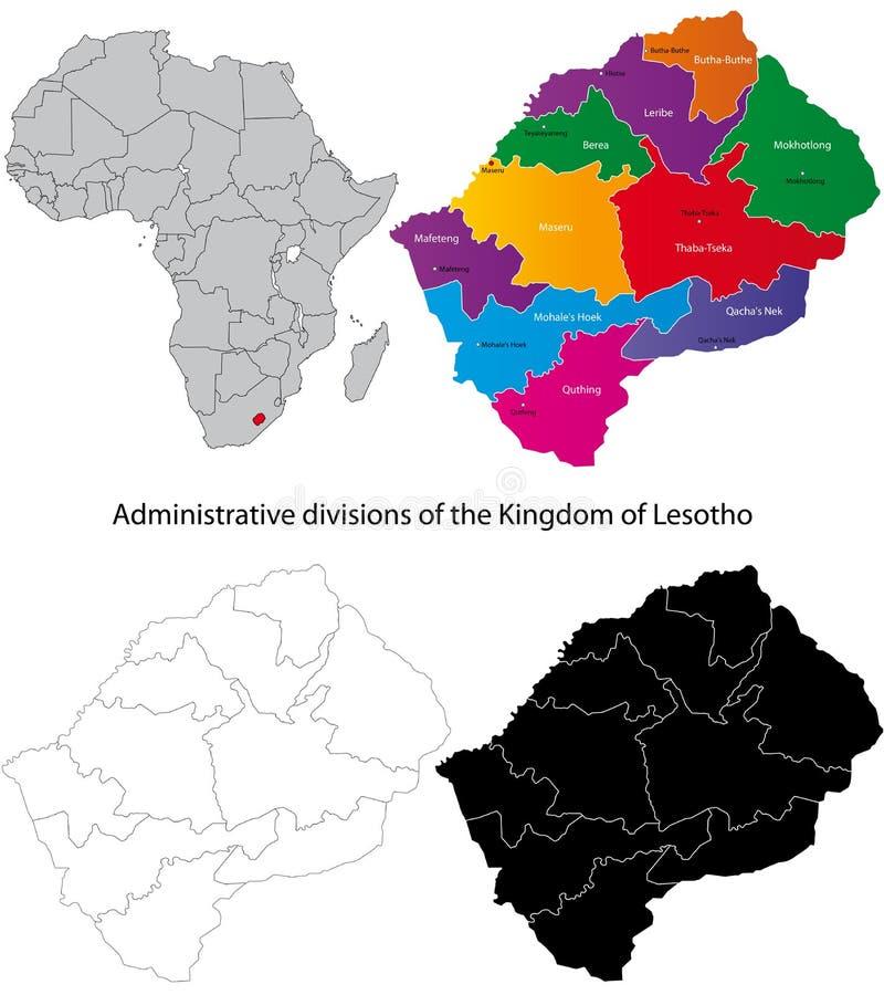 lesotho översikt stock illustrationer