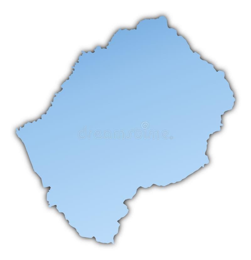 Download Lesotho map stock illustration. Image of blur, background - 7081116
