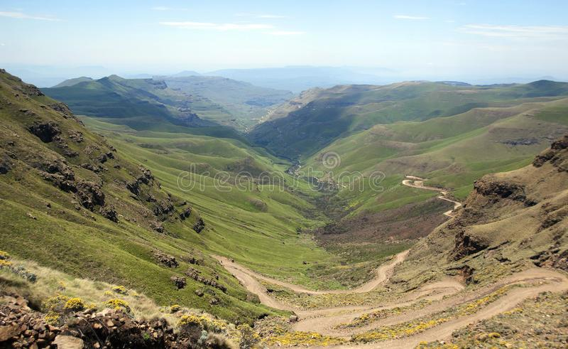 Lesotho, officially the Kingdom of Lesotho landscape. Lesotho, officially the Kingdom of Lesotho, is a landlocked country and enclave, surrounded by the Republic royalty free stock images
