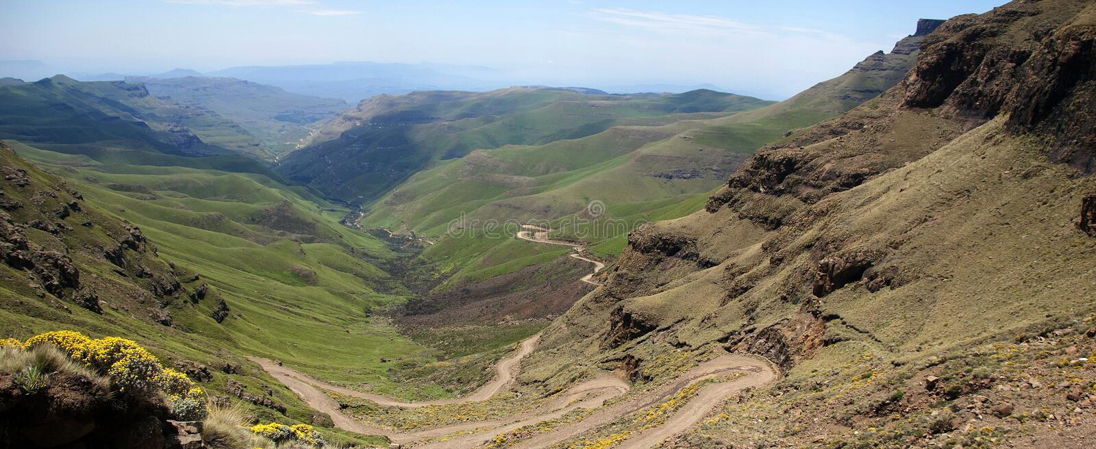 Lesotho, officially the Kingdom of Lesotho landscape. Lesotho, officially the Kingdom of Lesotho, is a landlocked country and enclave, surrounded by the Republic royalty free stock photography