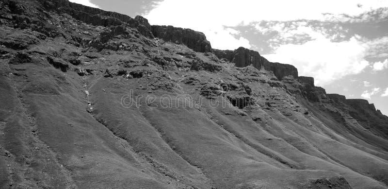 Lesotho, officieel het Koninkrijk van het landschap van Lesotho stock foto