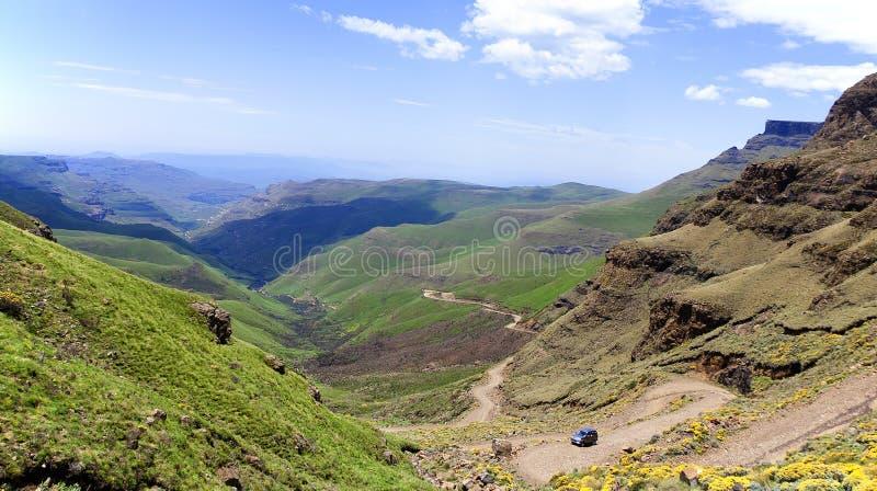 Lesotho, officieel het Koninkrijk van het landschap van Lesotho stock foto's